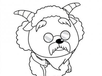 幼儿园简笔画:喜洋洋和灰太狼