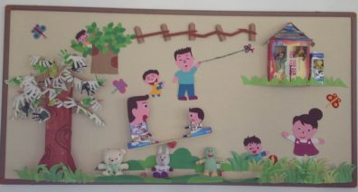 幼儿园环境布置:户外游戏区4