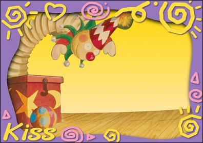 可爱幼儿园卡通边框