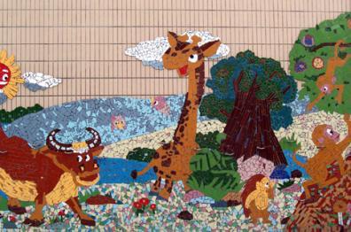 幼儿园环境布置:户外墙面装饰3图片