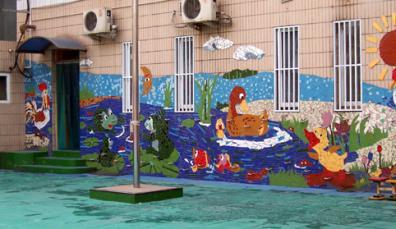 幼儿园环境布置:户外墙面装饰4图片